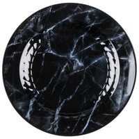 WNA Comet EMP10BK6QRY Textures Quarry Collection 10 1/4 inch Black Marble Motif Plastic Plate - 10/Pack