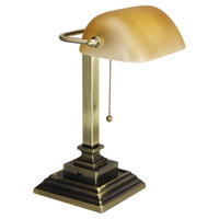 Alera ALELMP517AB Antique Brass Traditional Banker's Lamp
