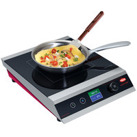 Hatco IRNG-PC1-18 Rapide Cuisine Stainless Steel / Radiant Red Countertop Induction Range / Cooker - 120V, 1800W