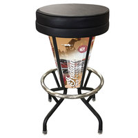 Holland Bar Stool L500030IndianWrapBlkVinyl Indian Motorcycle Indoor / Outdoor LED Bar Stool