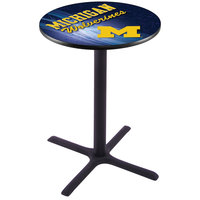 Holland Bar Stool L211B3628MICHUN-D2 28 inch Round University of Michigan Pub Table