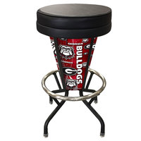Holland Bar Stool L500030GA-UnBlkVinyl University of Georgia Indoor / Outdoor LED Bar Stool