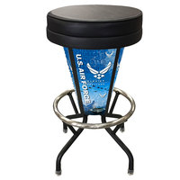 Holland Bar Stool L500030AirForBlkVinyl United States Air Force Indoor / Outdoor LED Bar Stool