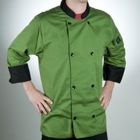 Chef Revival J134MT-M Cool Crew Fresh Size 42 (M) Mint Green Customizable Chef Jacket with 3/4 Sleeves - Poly-Cotton