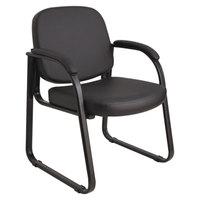 Alera ALERL43C16 Genaro Black Vinyl Arm Chair