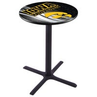 Holland Bar Stool L211B3628IOWAUN-D2 28 inch Round University of Iowa Pub Table