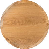 BFM Seating VN24RNT 24 inch Round Natural Ash Veneer Indoor Table Top