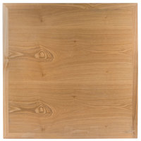 BFM Seating VN3030NT 30 inch Square Natural Ash Veneer Indoor Table Top