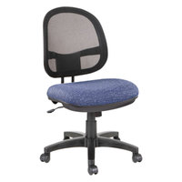 Alera ALEIN4824 Interval Marine Blue Mesh Office Chair with Black Swivel Nylon Base