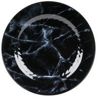 WNA Comet EMP75BK6QRY Textures Quarry Collection 7 1/2 inch Black Marble Motif Plastic Plate - 100/Case