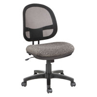 Alera ALEIN4844 Interval Graphite Gray Mesh Office Chair with Black Swivel Nylon Base