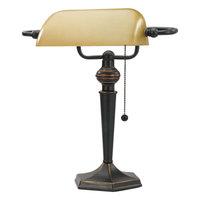 Alera ALELMP537BZ Antique Bronze Traditional Banker's Lamp