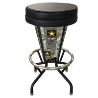 Holland Bar Stool L500030ArmyBlkVinyl United States Army Indoor / Outdoor LED Bar Stool