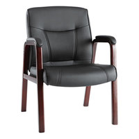 Alera ALEMA43ALS10M Madaris Black Leather Arm Chair