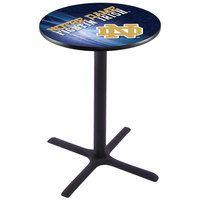 Holland Bar Stool L211B3628ND-ND-D2 28 inch Round University of Notre Dame Pub Table