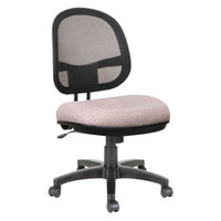 Alera ALEIN4854 Interval Sandstone Tan Mesh Office Chair with Black Swivel Nylon Base