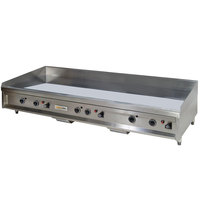 Anets A24X60AGC 60 inch Natural Gas Chrome Countertop Griddle with Thermostatic Controls - 150,000 BTU