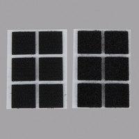 3M RF4721 Scotch® 7/8 inch Black Indoor Fastener Set - 6/Pack