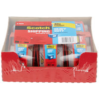3M 142-6 Scotch® 2 inch x 22 Yards Heavy-Duty Packaging Tape with Dispenser - 6/Pack