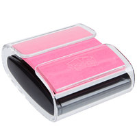3M WD330BK Post-it™ 3 inch x 3 inch Pink Super Sticky Notes with Pop-Up Notes Dispenser - 45 Sheets