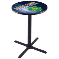 Holland Bar Stool L211B3628ND-SHM-D2 28 inch Round University of Notre Dame Pub Table
