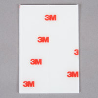 3M 410PST Scotch® 1 inch x 3 inch Clear Mounting Strip - 8/Pack