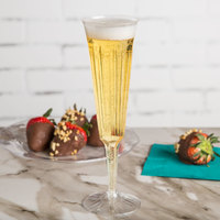 WNA Comet OPSCHMP5 Opulence 5 oz. Clear 2-Piece Plastic Champagne Flute - 10/Pack