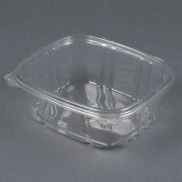 D&W Fine Pack VH32P VersaPak 32 oz. Recyclable Square Hinged Take Out Deli Container - 200/Case