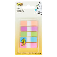 3M 6835CB2 Post-It® 1/2 inch x 1 3/4 inch Assorted Bright Color Page Flag with On-the-Go Dispenser - 100 Flags