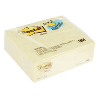 3M 653-24VAD Post-It® 1 1/2 inch x 2 inch Canary Yellow 100 Sheet Sticky Note Pad - 24/Pack