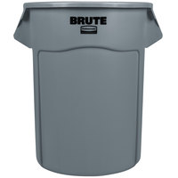 Rubbermaid FG265500GRAY BRUTE Gray 55 Gallon Trash Can