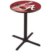 Holland Bar Stool L211B4228AL-A-D2 28 inch Round University of Alabama Bar Height Pub Table