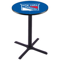 Holland Bar Stool L211B36NYRANG 28 inch Round New York Rangers Pub Table