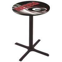 Holland Bar Stool L211B4228GA-G-D2 28 inch Round University of Georgia Bar Height Pub Table