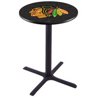 Holland Bar Stool L211B36CHIHWK-B 28 inch Round Chicago Blackhawks Pub Table