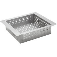 Advance Tabco A-17 3 inch Deep Perforated Sink Basket for 9 1/2 x 11 1/2 inch x 6 inch Bowls
