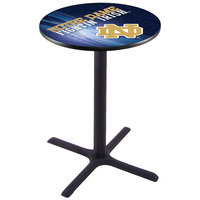 Holland Bar Stool L211B4228ND-ND-D2 28 inch Round University of Notre Dame Bar Height Pub Table