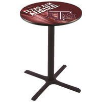 Holland Bar Stool L211B3628TEXA-M-D2 28 inch Round Texas A&M Pub Table