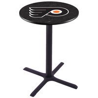 Holland Bar Stool L211B36PHIFLY-B 28 inch Round Philadelphia Flyers Pub Table
