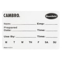 Cambro 23SL StoreSafe 3 inch x 2 inch Printed Dissolvable Product Label 100 / Roll - 20/Case
