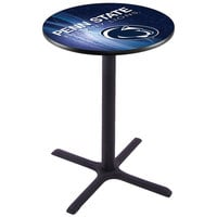 Holland Bar Stool L211B4228PENNST-D2 28 inch Round Penn State University Bar Height Pub Table