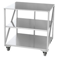 Doyon PIZ3B 35 inch x 30 3/4 inch Mobile Stainless Steel Equipment Stand with 2 Undershelves
