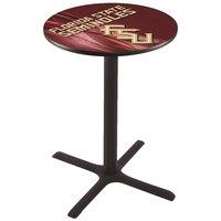 Holland Bar Stool L211B4228FSU-FS-D2 28 inch Round Florida State University Bar Height Pub Table