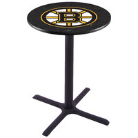 Holland Bar Stool L211B36BOSBRU 28 inch Round Boston Bruins Pub Table