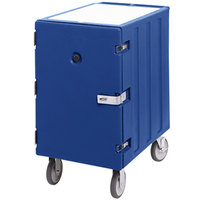 Cambro 1826LBCSP186 Camcart Navy Blue Single Compartment Mobile Cart for 18 inch x 26 inch Food Storage Boxes - With Security Package