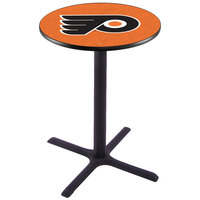 Holland Bar Stool L211B36PHIFLY-O 28 inch Round Philadelphia Flyers Pub Table