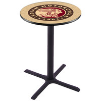 Holland Bar Stool L211B36INDN-HD 28 inch Round Indian Motorcycle Pub Table