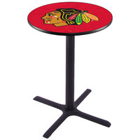 Holland Bar Stool L211B36CHIHWK-R 28 inch Round Chicago Blackhawks Pub Table