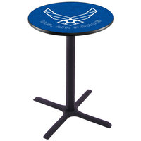 Holland Bar Stool L211B3628AirFor 28 inch Round United States Air Force Pub Table