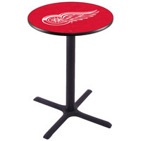 Holland Bar Stool L211B36DETRED 28 inch Round Detroit Red Wings Pub Table